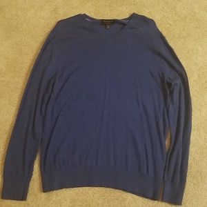 Banana Republic Blue V-neck Sweater